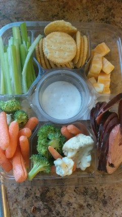 Veggie, Cheese and Summer Sausage Tray