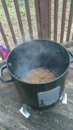 This is where I clearly put too much wood pellets over my charcoal. You live and learn right?