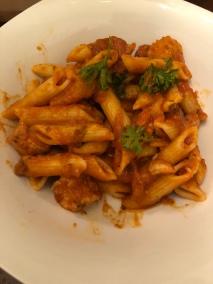 Chicken, Sausage and Mozarella Pasta