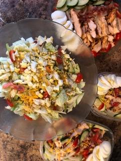 Large Dinner Salad with Meal Prep Salads