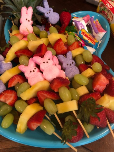 Fruit Skewers & Fruit Tray for Easter