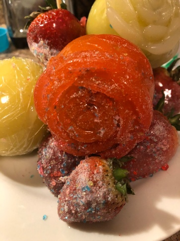 Candy Rose Apples, Candy Strawberries